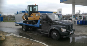 Эвакуатор для трактора, перевозка погрузчика
